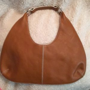 Banana Republic Tan Leather Hobo Bag